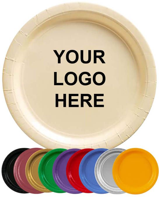 7 inch Colored Paper Plate  sc 1 st  Promotion Choice & 7 inch Colored Paper Plate | Imprinted Logo | DQM8T