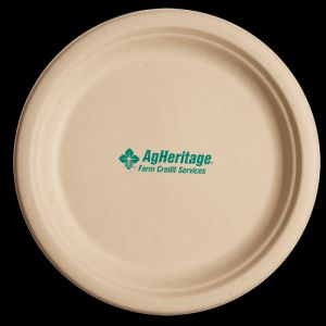 10 inch Kraft Round Compostable Paper Plate