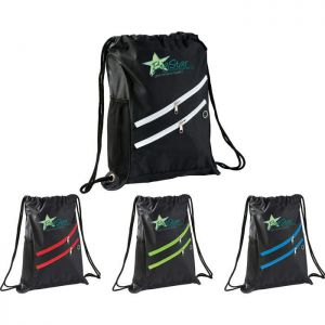 Two Zipper Deluxe Drawstring Sportspack