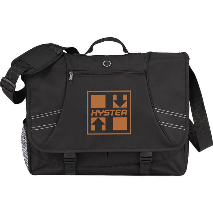 Horizons 15 inch Computer Messenger Bag - Black