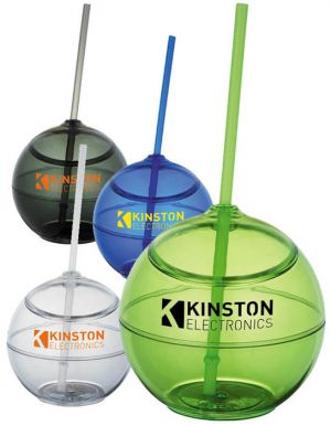 Fiesta 20oz Ball with Straw