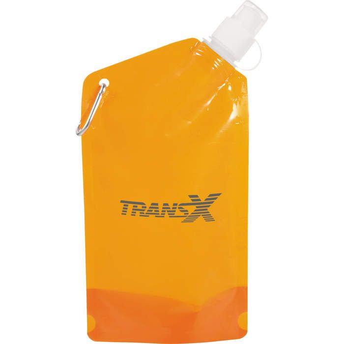Cabo 20oz Water Bag with Carabiner - Translucent Orange