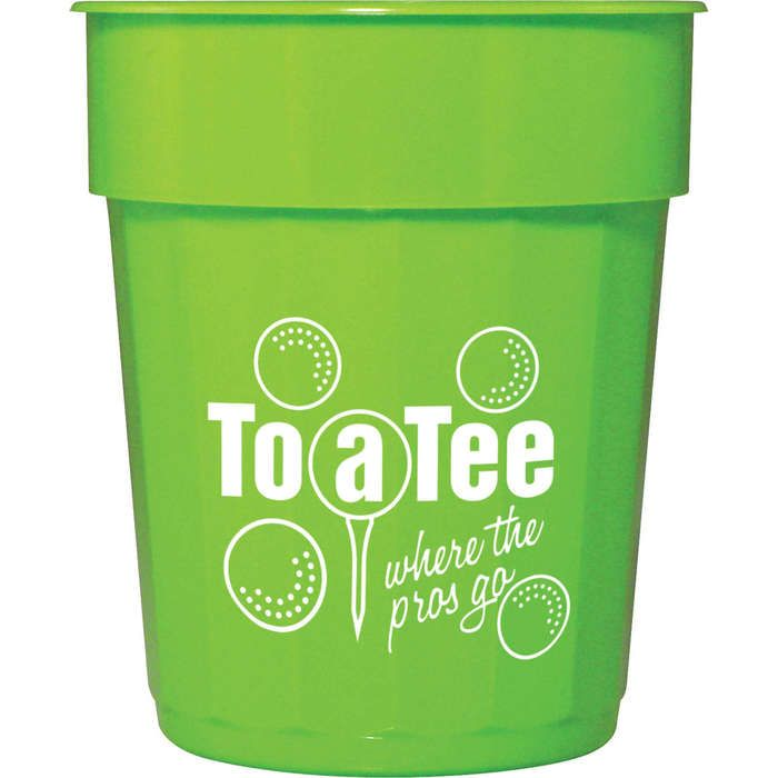 16oz Fluted Stadium Cup - Lime Green