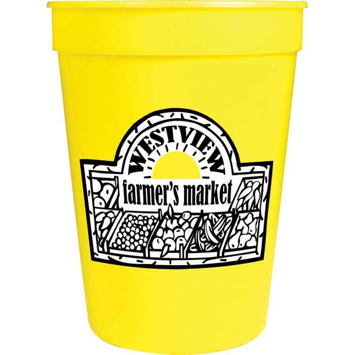 12oz Stadium Cup - Yellow