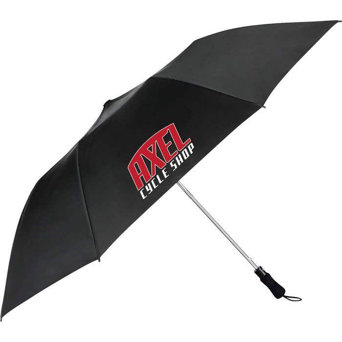 "55"" Auto Open Folding Golf Umbrella - Black"