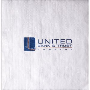 1-Ply White Linen Embossed Luncheon Napkins