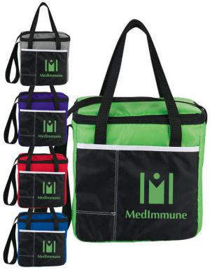 Color Block Cooler Lunch Bags