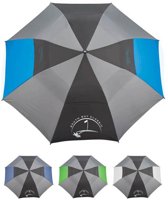 "55"" Slazenger Vented, Auto Open Folding Golf Umbrella"