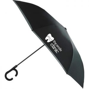 "48"" Inversion Auto Open Umbrella w/ C-Shap handle"