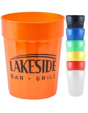 22oz Squat Fluted Stadium Cups