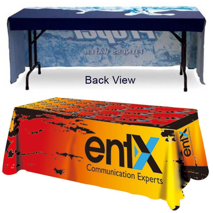 5 Ft Open Back Trade Show Table Cover