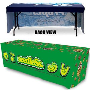 5 ft. Open Back Fitted Trade Show Table Cover