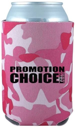 Collapsible Can Cooler - Pink Camo