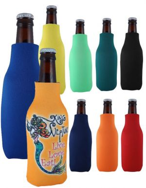 Zippered Bottle Cooler with Full Color
