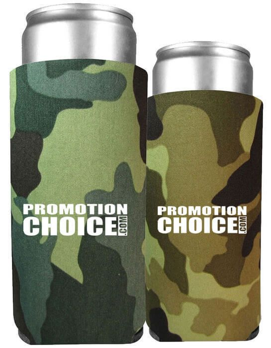 Collapsible 12 oz. Slim Koozies Comouflage Colors