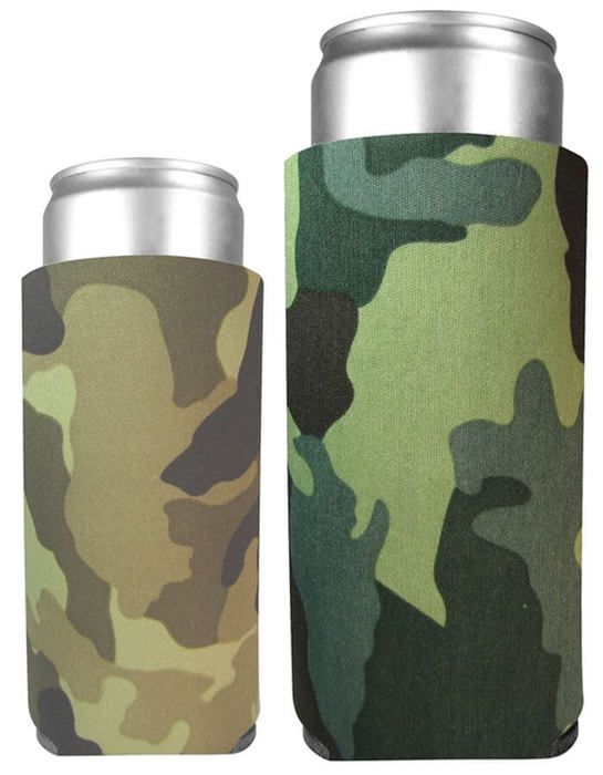 Collapsible 24 oz. Can Cooler Comouflage Colors