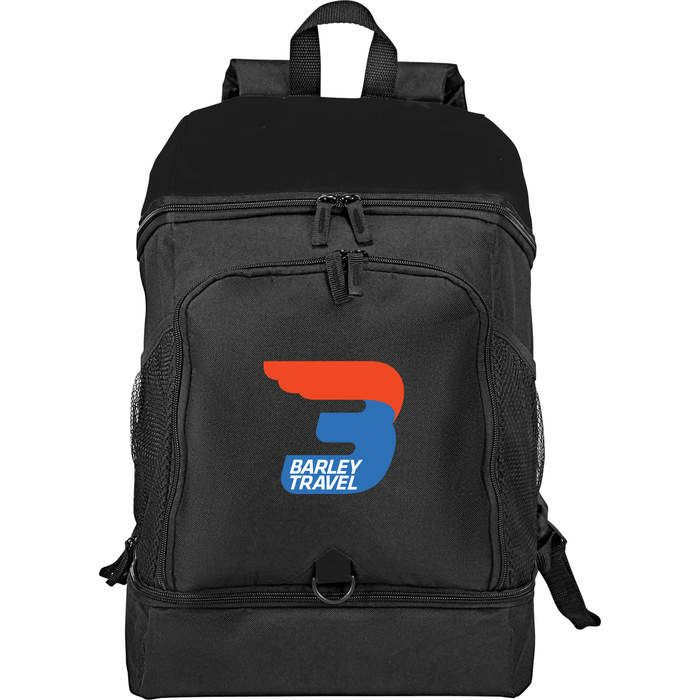Top Open 15inch Computer Backpack - Black