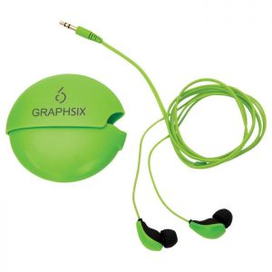 Glow-In-The-Dark Earbuds with Case