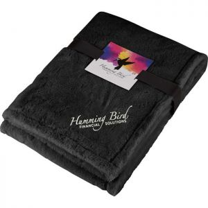 ZZZZUltra Plush Faux Fur Throw Blanket with Card