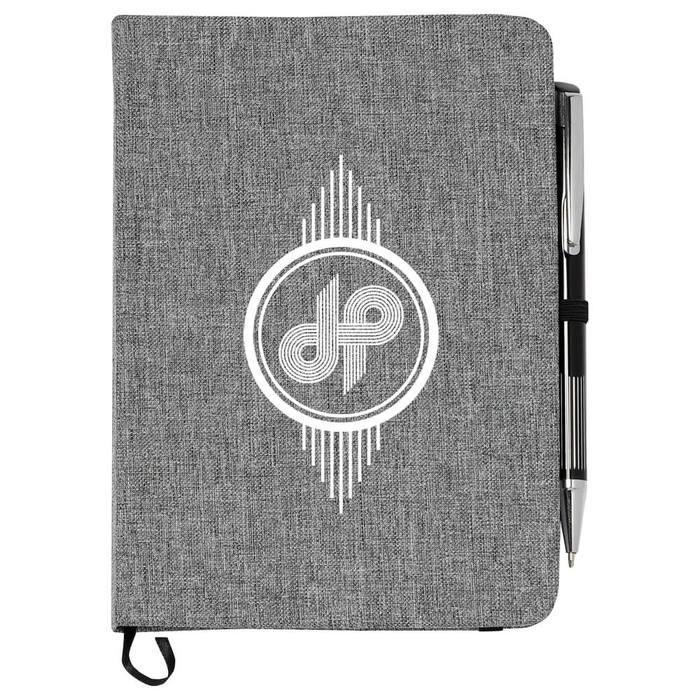 "Heathered Bound 5"" x 7"" Notebook - Gray"