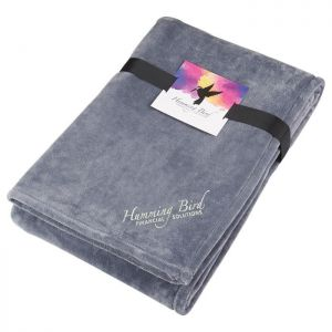 Oversized Ultra Plush Throw Blanket with Card