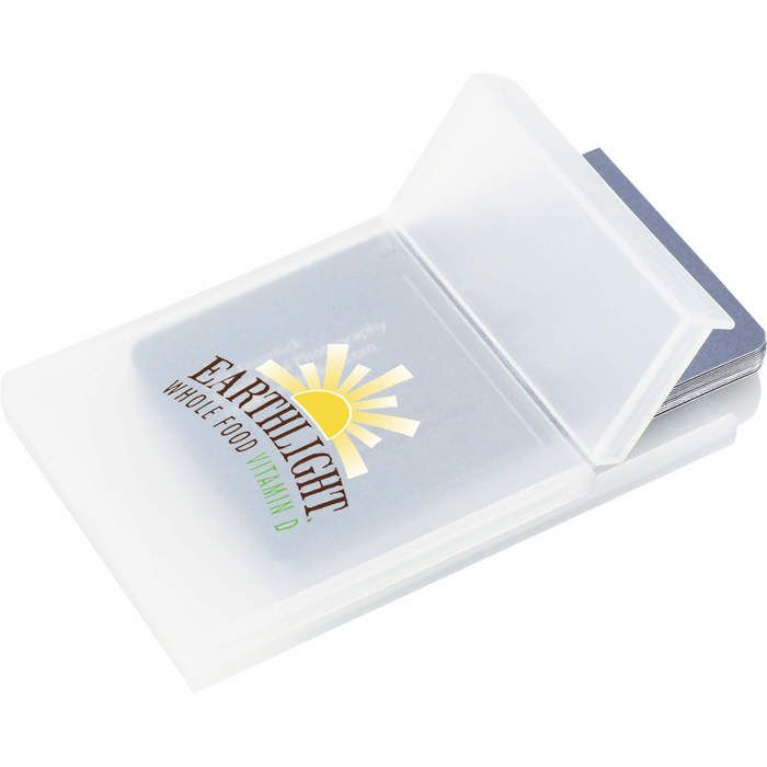 Plastic Business Card Holder - Clear