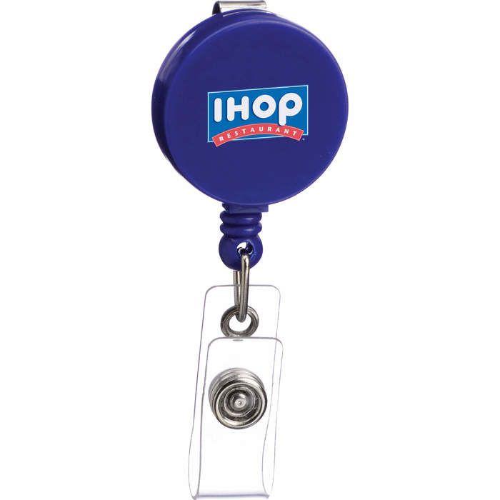 Round Badge Reel - Blue