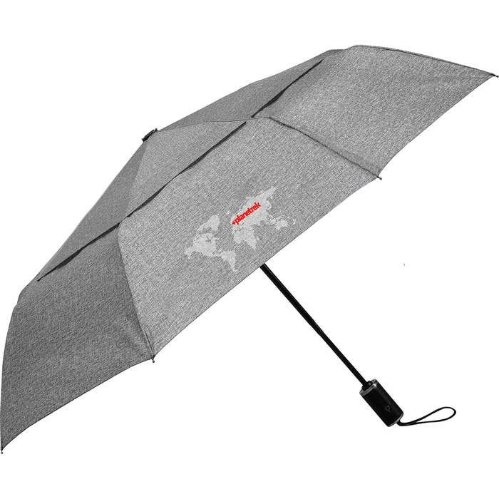 "46"" Heathered AOC Vented Umbrella - Charcoal"