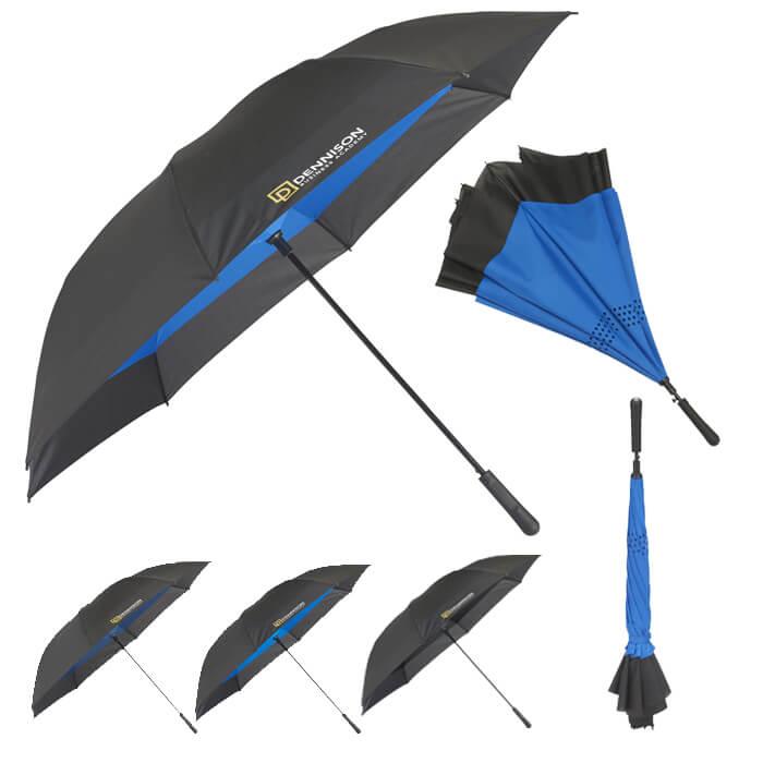 "58"" Inversion Auto Close Golf Umbrella"