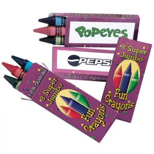 Jumbo size Crayons 3 Pack