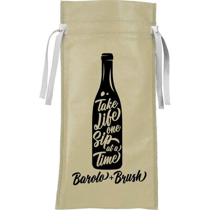 Ribbon Non-Woven Wine Tote