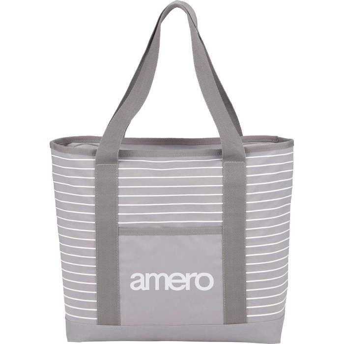 Saturn Zippered Business Tote - Gray