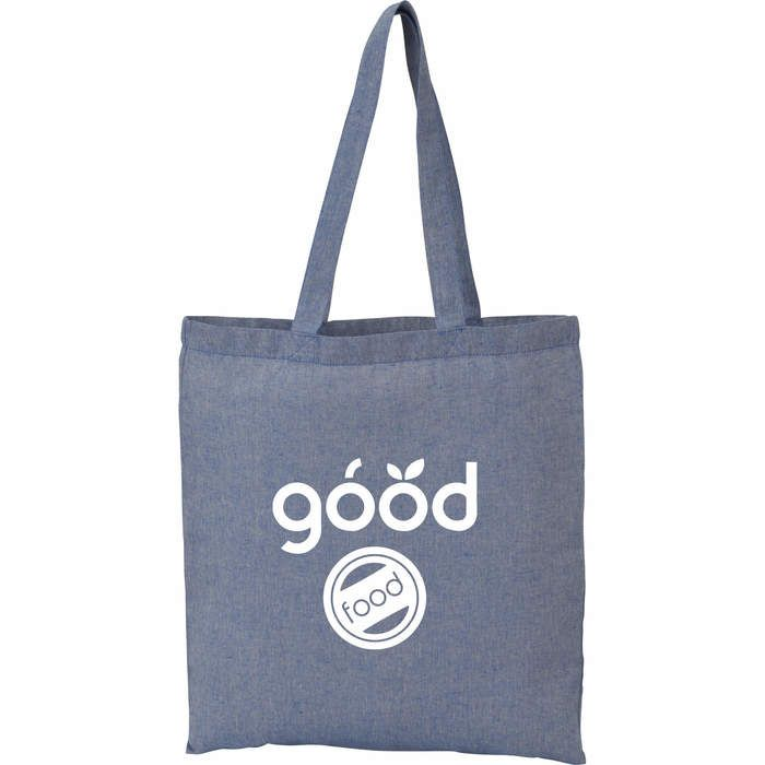 Recycled 5oz Cotton Twill Tote - Blue