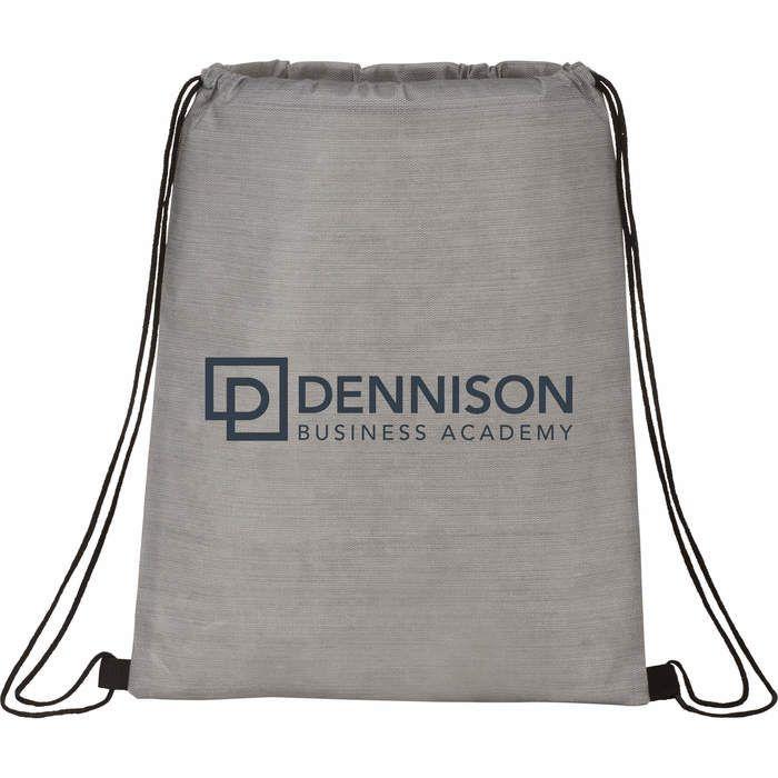 Graphite Non-Woven Drawstring Bag - Gray