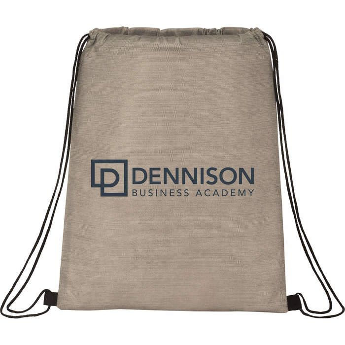 Graphite Non-Woven Drawstring Bag - Tan