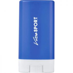 Blue sunscreen stick with customized logo
