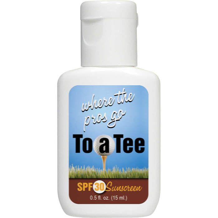 White 0.5oz Sunscreen with Design