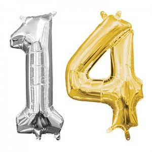 "14"" Number Foil Balloons"