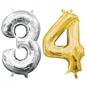 "34"" Number Foil Balloons"