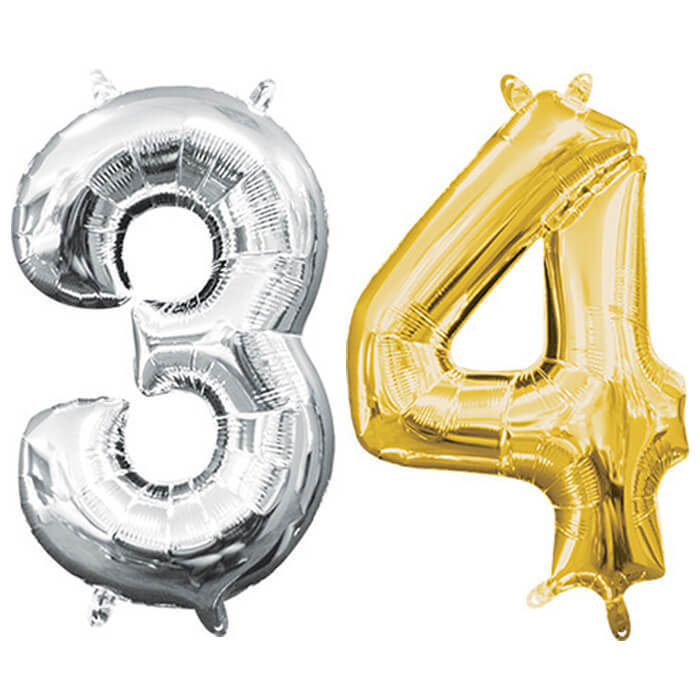 """34"""" Number Foil Balloons"""