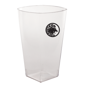 12oz Clear Plastic Square Tumblers
