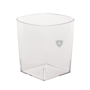 9oz Clear Plastic Rocks Square Tumblers