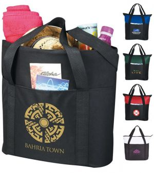 Heavy Duty Zippered Tote Bags