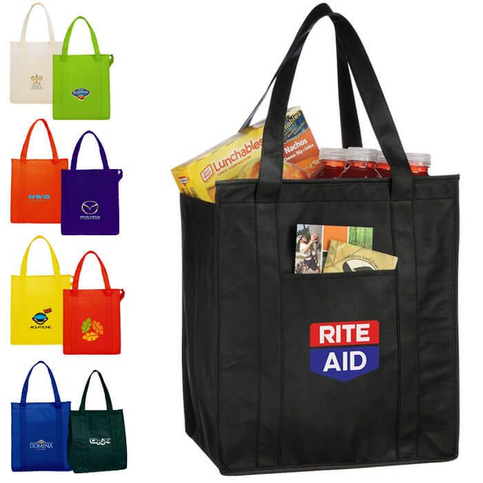 Hercules Insulated Grocery Tote Bags