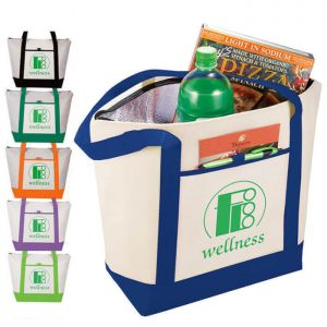Insulated Lighthouse Boat Lunch Tote Bags