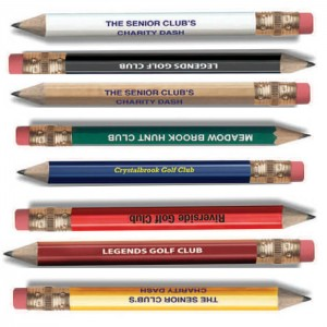 Hex Golf Pencil with Eraser