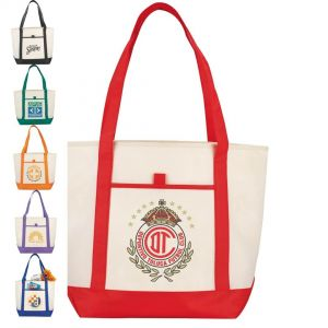 Lighthouse Boat Tote Bags