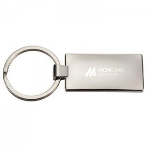 Metal and Cork Keychain
