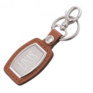 Brushed Plate Keychain
