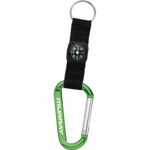 Carabiner Keychain with Compass